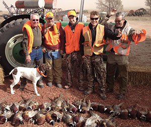 Bob Hodgdon, Hodgdon Powder Co., Ministry Supporter and Outdoor Industry Leader, Shawnee, KS (shown far left in photo with family and friends)