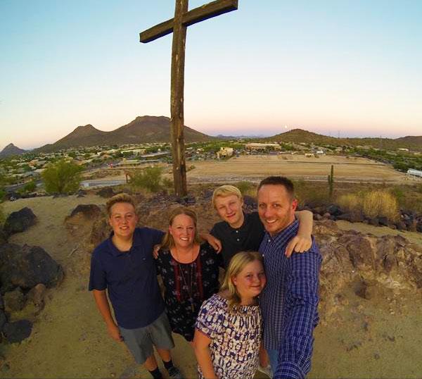 Fathers in the Field - Board member Josh Ettesvold and his family.