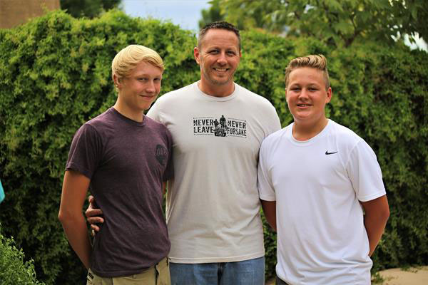 Fathers in the Field - Josh and his sons