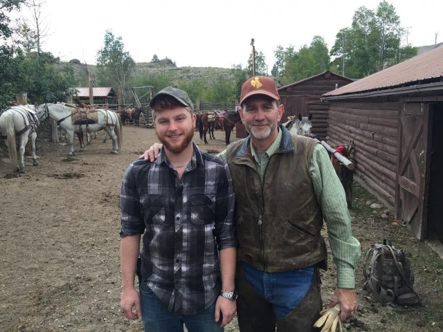 DTC: Field Buddy David and Mentor Father Mike McNeill, Colorado Springs CO